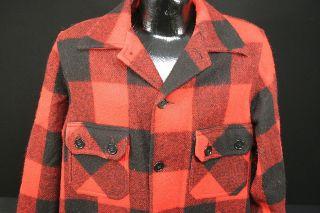 Bemidji Woolen Mills Vintage Lumber Jack Red Black Wool Jacket