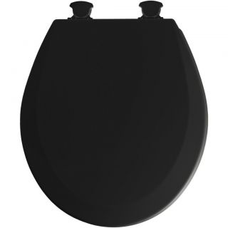 Bemis 46ECDG 047 Black Molded Wood Toilet Seat w/ Easy Clean & Change