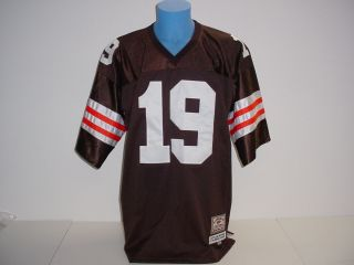 Bernie Kosar #19 Authentic Cleveland Browns Football Jersey Sewn Jeff