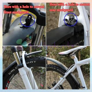 Bike Bicycle Tire Fender Front Rear Mudguard Set 2 7