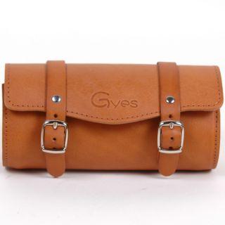 Gyes Leather Bicycle Saddle Bag Tool Bag Honey 800 003