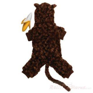 Halloween Dog Pet Costume Monkey Banana Toy LG Holiday
