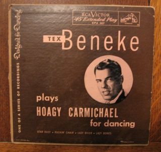 Tex Beneke Plays Hoagy Carmichael RCA 45 Extended Play Picture Cover