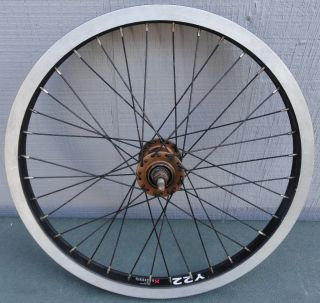 Alex Y22 X Rims 6061 T6 406X22 BMX Bike Bicycle Black Wheel Rim W Gold