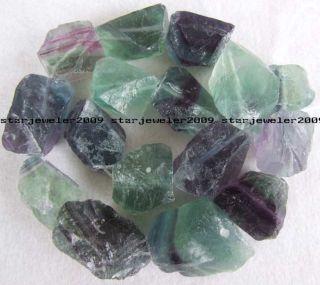 Big 22x24mm Natural Green Fluorite Freeform Beads 16