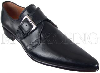 FRANCESCO BENIGNO BLACK LOAFERS UK 6 ITALIAN DESIGNER MENS SHOES