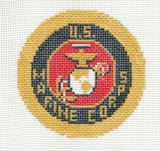 LEE *New* U.S. Marine Corps Military handpainted HP Needlepoint Canvas