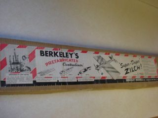 Berkeley Super Duper Zilch Radio Controlled Flying Model Airplane Kit