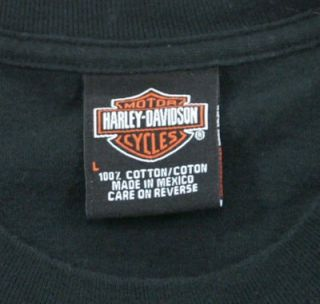 Harley Davidson T Shirt L Black Berlin Germany Korso Large Logo