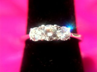 Stone Diamond Engagement Ring 14k White Gold 5 Carats Appraised at 1