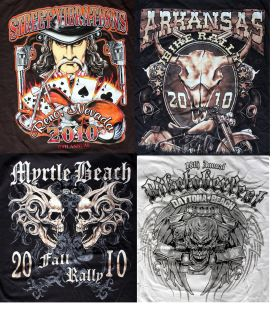 USA Rally Bike Week T shirts XL inc Myrtle Beach Daytona Reno