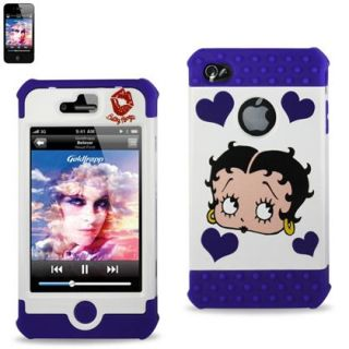REIKO BETTY BOOP iPhone 4 4S Silicon Hard Hybrid Protector Case