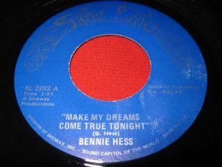 Bennie Hess Make My Dreams Come RARE Rockabilly 45