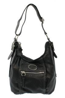 Giani Bernini New Black Soft Leather Hobo Handbag Large BHFO
