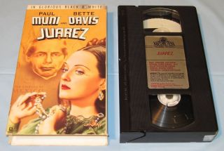 Juarez (VHS, 1991) Paul Muni/Bette Davis Biography Classic