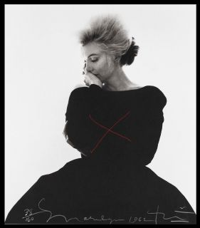 Bert Stern Signed Marilyn Monroe A Time to Think in Evening Dress 62