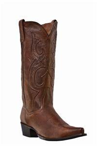 New Dan Post Mens Bexar Cowboy Rust Saddle Leather Boots 11 5 EW