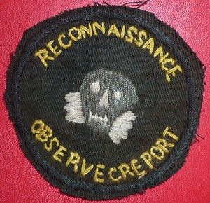 QV749 HS Patch Elite US Green Berets Recon Observe Report Vietnam War
