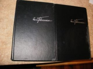 Harry Truman Signed Kansas City Edition Vol 1 Memoirs with Vol 2 1st