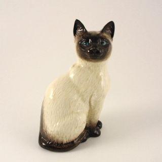 Vintage Beswick Siamese Cat Figurine 1887 Sitting