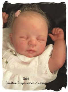 Custom Kim de Wetering Sarah Reborn Baby Crib Oarb Mars