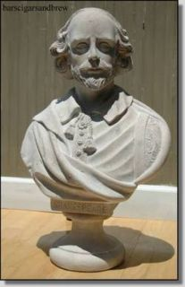 Wm Shakespeare Bust Statue Marble Stone Old Sty Large Life Size