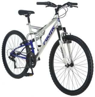 Pacific Chromium 26 Mens Dual Suspension Mountain Bike  264162PA