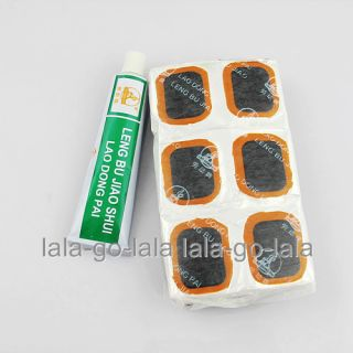 Bicycle Bike Tire Tube 48 Rubber Patches Repair Kit Bicycle Cold Glue