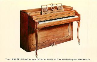 Lester Piano Betsy Ross Spinet Model 130 Advertising Postcard Dexter