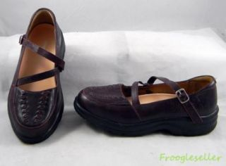 Dr Comfort Womens Betsy Low Heel Loafers Shoes 5 5 M Burgundy Leather