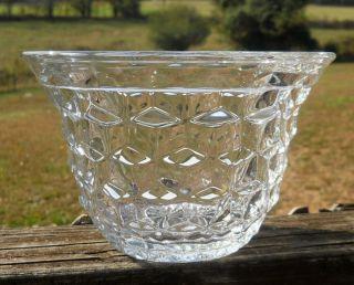 Vintage Fostoria American Crystal Clear Glass SWEET PEA VASE Bowl HTF