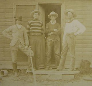 Antique Western Cabinet Photo Billy The Kid John Tunstall Alex Mcsween