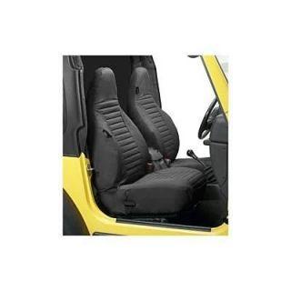 Bestop 29226 15 Seat Cover Black Denim Hi Back Pair 97 00 Wrangler