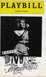 Divine Madness Broadway Playbill Bette Midler