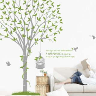 Big Happy Tree Saying Vinyl Art Wall Decal Stickers