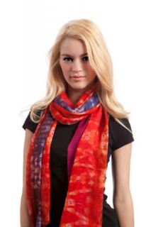 Bindya Large Wool Silk Scarf Shawl Tie Dye Look 1 2 Off $130 and Free