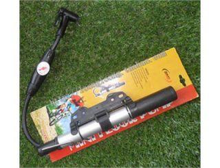 pressure bicycle tire inflator manual air pump with pressure gauge