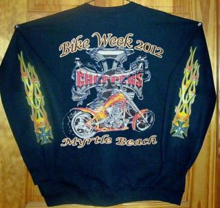 Myrtle Beach Bike Week 2012 Long Sleeve T Shirt Black Sz SM 5XL