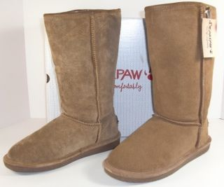 Bearpaw Bianca Tall II 9 M Brown Suede Mid Calf Winter Boots Womens
