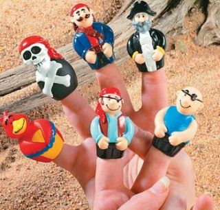 FINGER PUPPETS Dozen Kids Birthday Party Favors Cake Toppers Toys