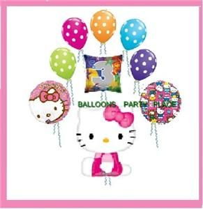 Hello Kitty 3rd Third Birthday Balloons Party Supplies