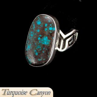 Navajo Native American Bisbee Mine Turquoise Ring Size 7 3 4 SKU