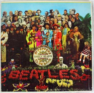 Paul McCartney The Beatles Sgt Peppers Signed Album Cover w Vinyl Real