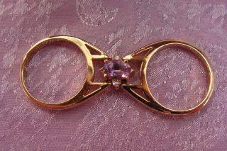Anillo Vintage Doble Face de Oro Y Piedras Topacios OBS Descripción