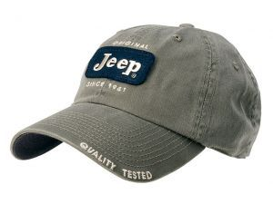 Embroidered Felt Patch Jeep Baseball Cap Hat Sage Green