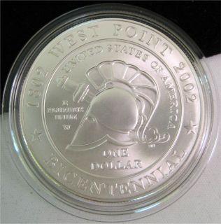 Military Academy UNC Silver Dollar Bicentennial Commemorative Coin