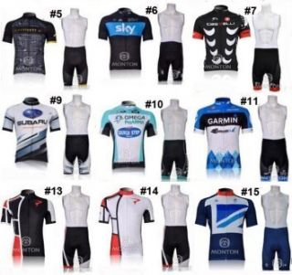 new 2012 Team bicycle bike Cycling clothing wear shirt jersey bibs