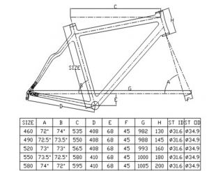 New Full Carbon 3K Clear Road Bike Frameset Racing Bicycle 700c 550mm