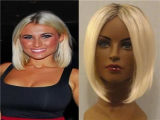 Deluxe Billie Towie Essex Bleach Blonde Long Straight Bob Wig with