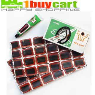 New 48 Pcs Bicycle Bike Tire Tube Rubber Patches Repair Plus 1 Pcs
